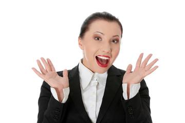 Amazed business woman