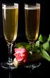 champagne - romance - saint valentin
