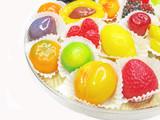 marmalade gelatin fruits set poster