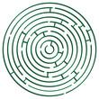 green round maze against white