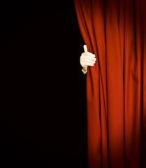 Magic red curtain