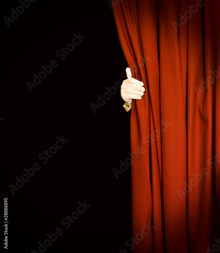 Magic red curtain