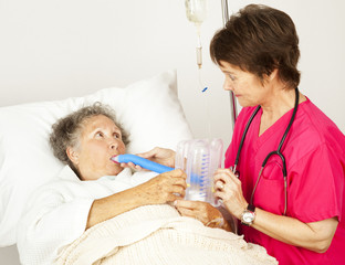 Breathing Exercise in Hospital