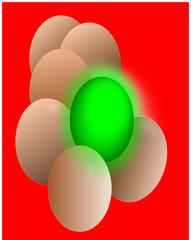 Eier durch Dioxin und Chemie vergiftet