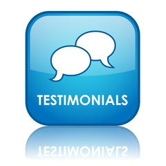 TESTIMONIALS Button (customer experience satisfaction feedback)