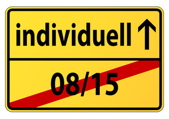 08/15 vs. individuell