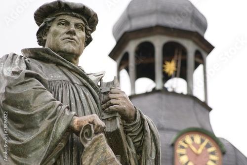 Leinwanddruck Bild Luther in Eisleben