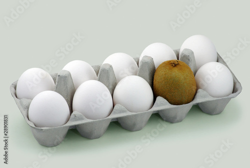 Eggs and kiwi