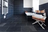 Fototapety badezimmer mit grauem schiefer