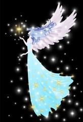 Angelo o Fata-Angel or Fairy-Vector