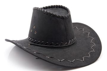 schwarzer Hut mit Verzierungen