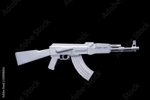 Kalashnikov made out of paper - 28908656