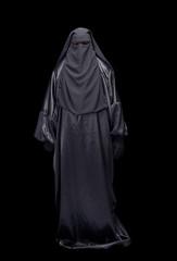 Woman in burqa and niqab