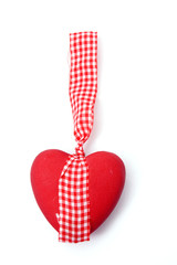 Ceramic heart with bow