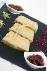 Assiette tranche de foie gras