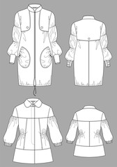 Raincoat female