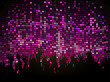 party people on purple mosaic background