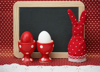 Ostern Dots Hase