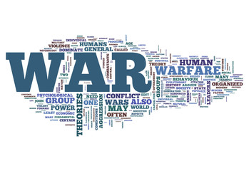 "Word Cloud ""War"""