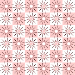Seamless checked pattern with dots design.