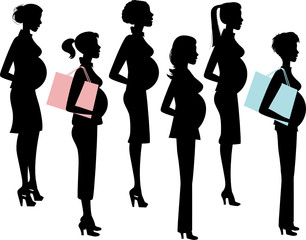 Chic Pregnant Women Silhouettes