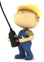 operaio con telecomando