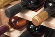Bottiglie di vino,particolare