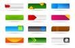 Colorful modern template buttons and banners