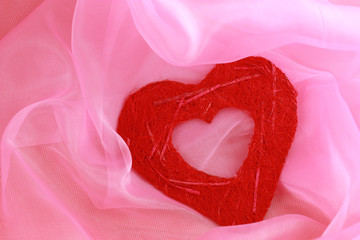 fond rose et coeur