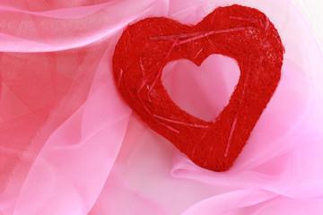 coeur rouge rosé