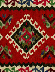 Kilim pattern, close up