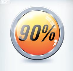 90 percent button