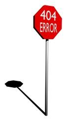 Segnale STOP - Errore 404