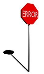 Segnale STOP - Errore