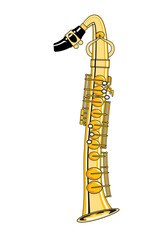 Saxophone-Style Musical Alphabet Number 1