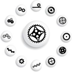 Set buttons - 142_B. Gears