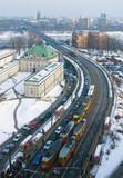 Fototapety Trasa W-Z i most Śląnsko-Dąbrowski w Warszawie