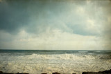 Vintage aged photo seascape