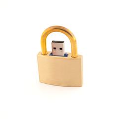 USB南京錠