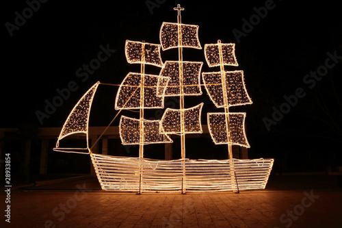 Traditional greek christmas ship - 28933854
