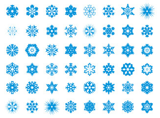 Big set of 48 snowflakes - 2