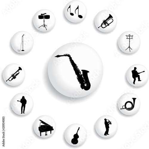 Set buttons - 118_B. Music