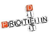Protein Diet Crossword poster