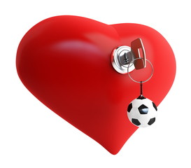heart key footbol