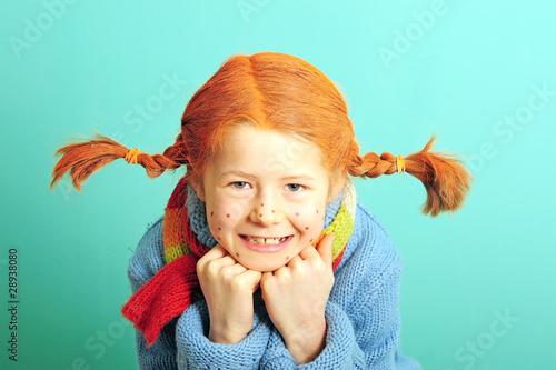 Leinwanddruck Bild Verkleidetes Mädchen