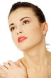Beautiful woman's face with fresh clean skin