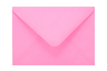 Pink envelope isolated on white