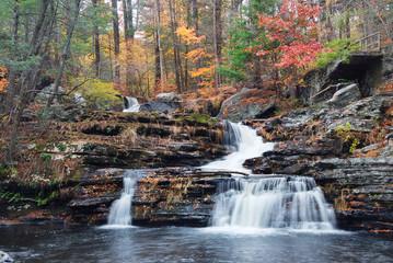 Autumn Waterfall in mountain