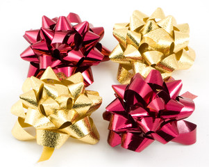 red and gold bows