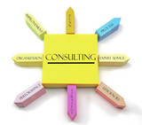 Fototapety Consulting Concept on Arranged Sticky Notes